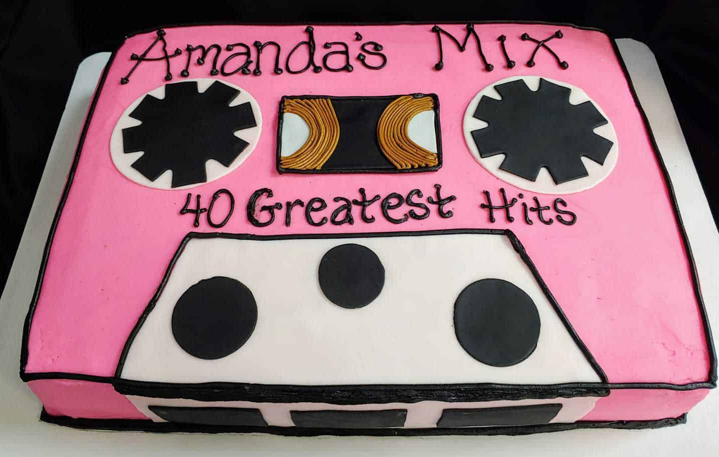 Brilliant 80S Themed Birthday Cake Sugartime Confections Funny Birthday Cards Online Barepcheapnameinfo