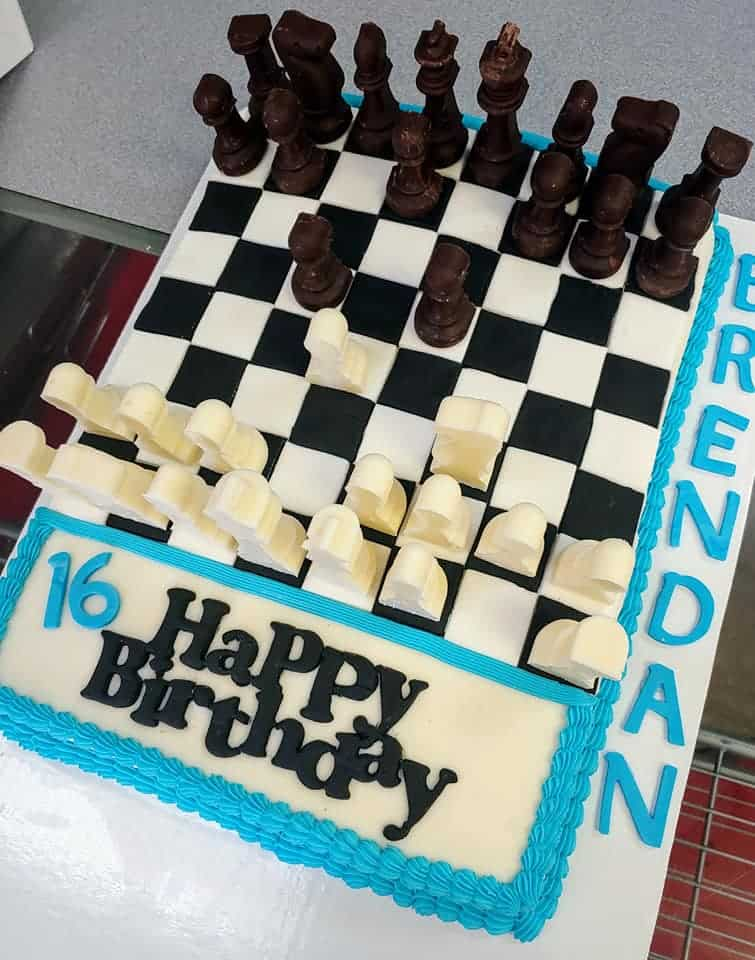 Astonishing Chess Birthday Cake Sugartime Confections Funny Birthday Cards Online Overcheapnameinfo