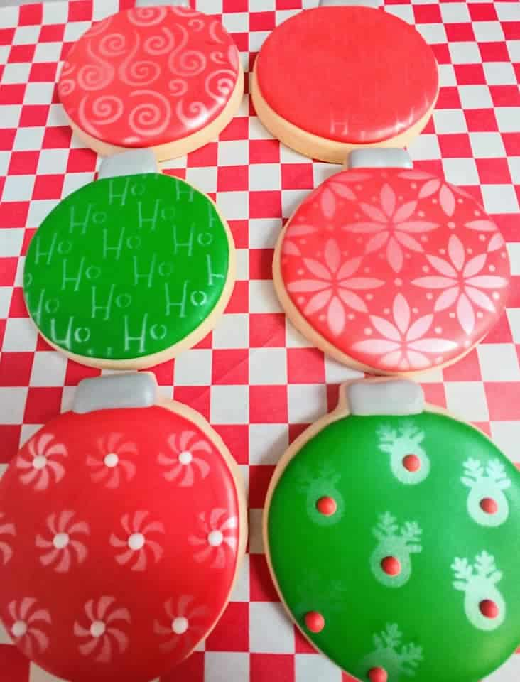 Christmas Bulb Cookies Sugartime Confections