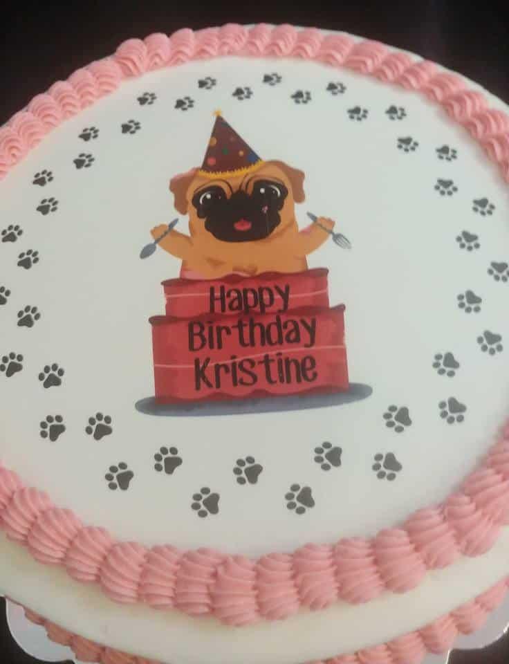 Astounding Pug Birthday Cake Sugartime Confections Funny Birthday Cards Online Bapapcheapnameinfo